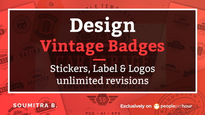 Design 3 concept vintage badges, stickers, label & logos
