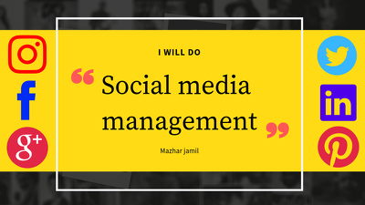 Manage your 2 Social Media Profiles for one month