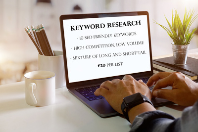 research and produce SEO-friendly keywords
