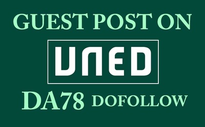 Publish a Guest Post on DA78 UNED University Site, Dofollow Link