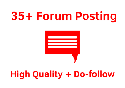Give you more than 35 manual Forum posting