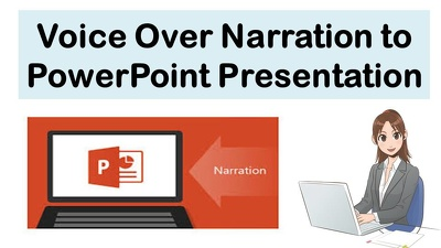 Provide Voice-Over narration to PowerPoint Presentations