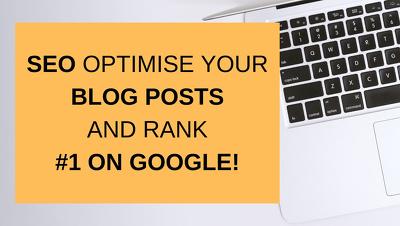 SEO optimise a Wordpress blog post on your website