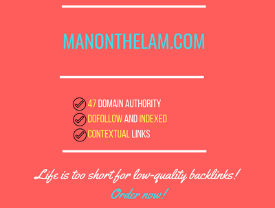 Place a guest post on manonthelam.com - DA49