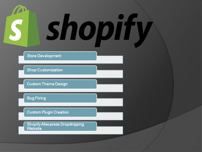 Build shopify site, customization, bug fixing etc