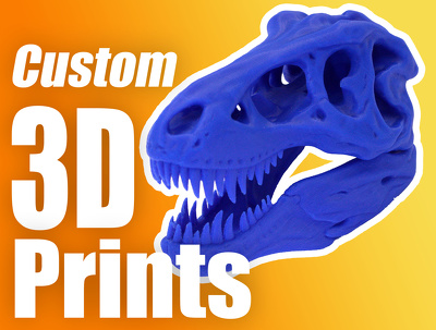 Produce custom 3D prints in various colours and materials