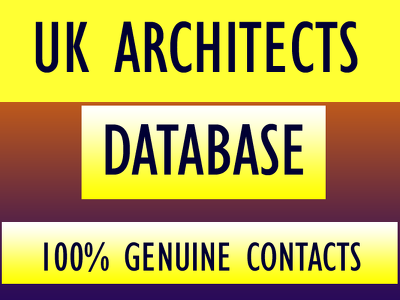 Give you uk architect database with 5000 contacts