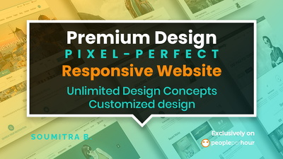 Design a premium, pixel-perfect & responsive website