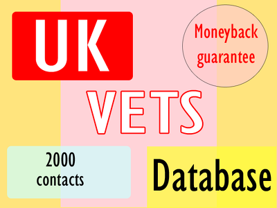 Give you 2000 uk vets email with a very cheap rate