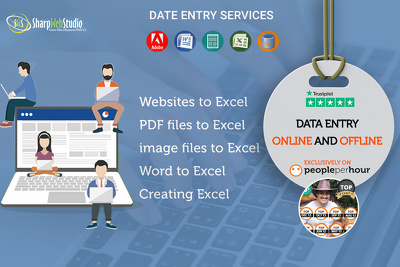 Do any kind of data entry work for £10/hour