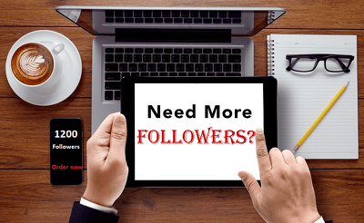 Instant 1200 Genuine Follower to your Social Media Page/Profile