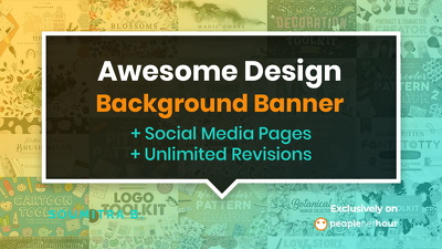 Create AWESOME background banner for your social media pages