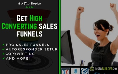 build High Converting Sales Funnels, Landing, Sales Pages