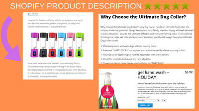 Write shopify product description