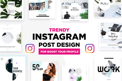Design modern Trendy Instagram Posts Or Stories And Quote