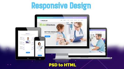 Convert PSD to HTML - Responsive Design