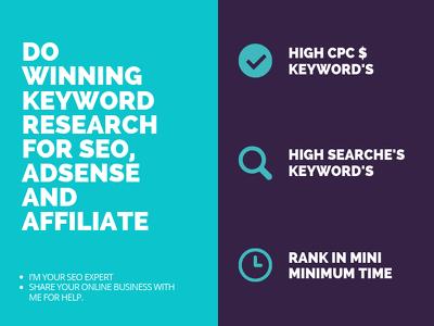 Do Keyword Research for seo ,adsense ,affiliate