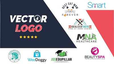 Do premium vector logo design + business card + face-book cover