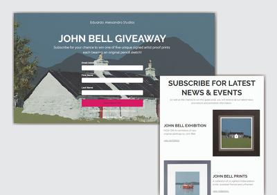 Create a MailChimp landing page
