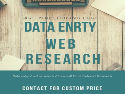 Data entry  web research virtual assistant