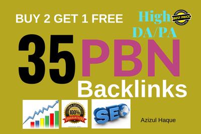 Generate 35 High Da Pa Permanent Homepage Pbn Backlinks