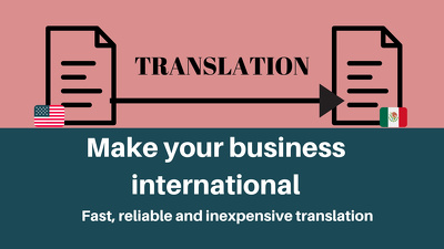 Translate your small document ( 1000 words or less) to Spanish