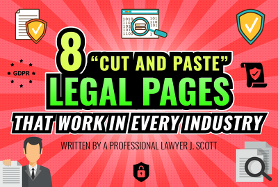 "✅ Share 8 Type of ""Cut & Paste""Legal Pages for Your Website"