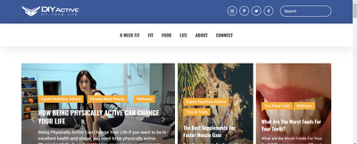 Add a Guest Post on Diyactive.com Health & Ftiness Website