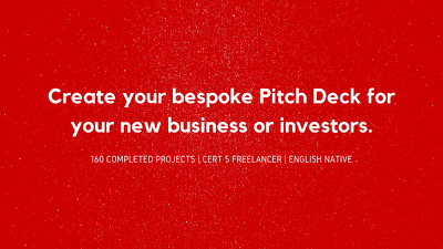 Bespoke pitch deck