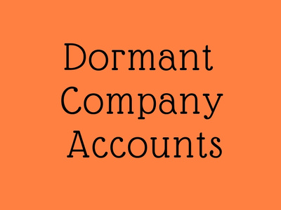 prepare & submit dormant company accounts to companies house