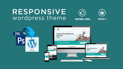 Convert PSD to responsive WordPress Theme using Bootstrap 4
