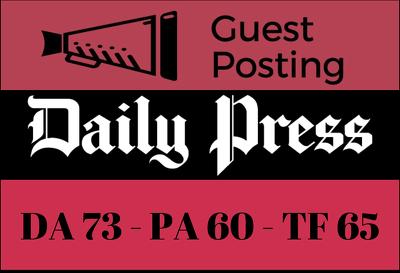 Guest Post on Daily Press - Dailypress.com DA 73
