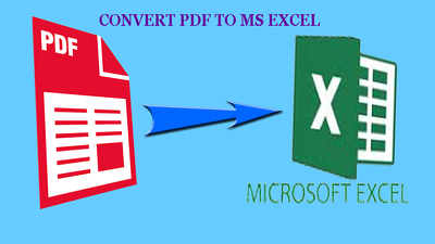 Convert PDF to ms excel spreadsheets of 30 pages