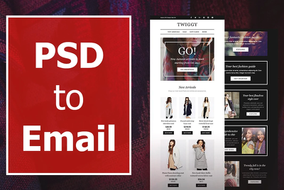 Convert PSD to HTML Responsive Email Template, Email Newsletter