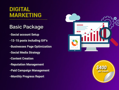 Digital Marketing - Basic Package/month