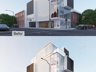 Post production your buildings render in photoshop