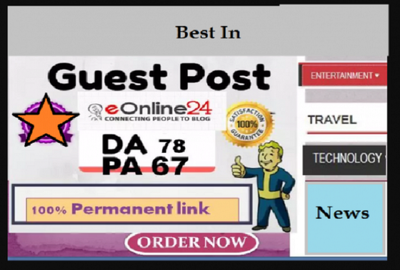 Write & publish HQ content on eonline24.com with Dofollow link