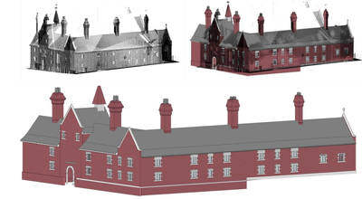 Revit modeling and detailing from pointcloud