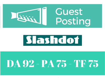 Publish a Guest Post with DoFollow Link Slashdot.org DA 92