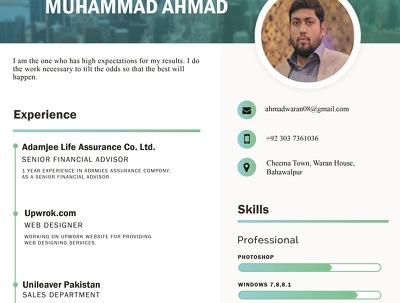 Design professional resume