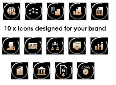 design 10 x beautiful icons to match your brand
