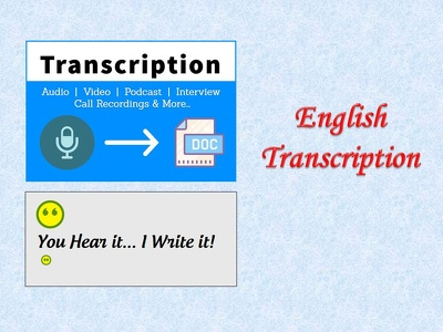 transcribe 20 minutes audio video in 24 hours.