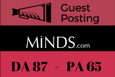 Publish a Guest Post on Minds - Minds.com - DA 87