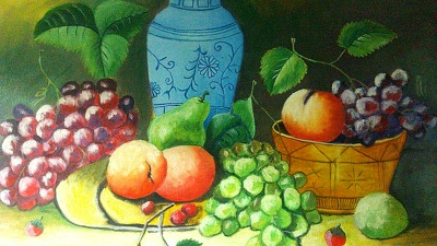 Oil painting, watercolor painting, still life painting