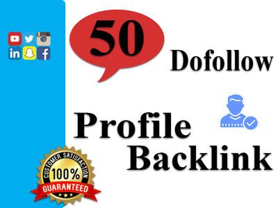 Reate 50 Dofollow Profile Backlink.