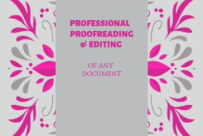 Professionally Proofread/Edit Your Any Document of 1000 words
