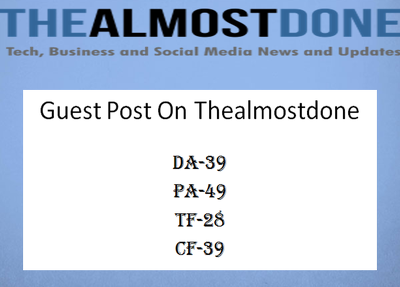 Do guest post on real DA-40+ Site with dofollow Backlink