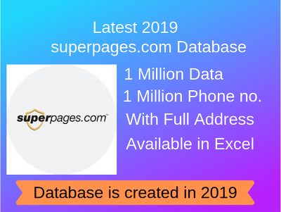 Provide 2019 database of 1 million US Business
