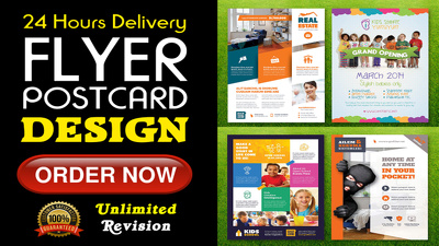 Design Unique  Flyer, Brochures, Poster with unlimited Revision