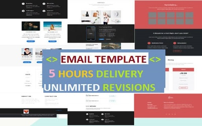 Mailchimp email template design and mailchimp integration
